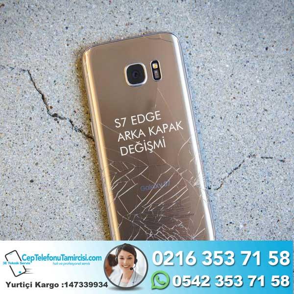Samsung S7 Galaxy EDGE Arka Kapak Değişimi